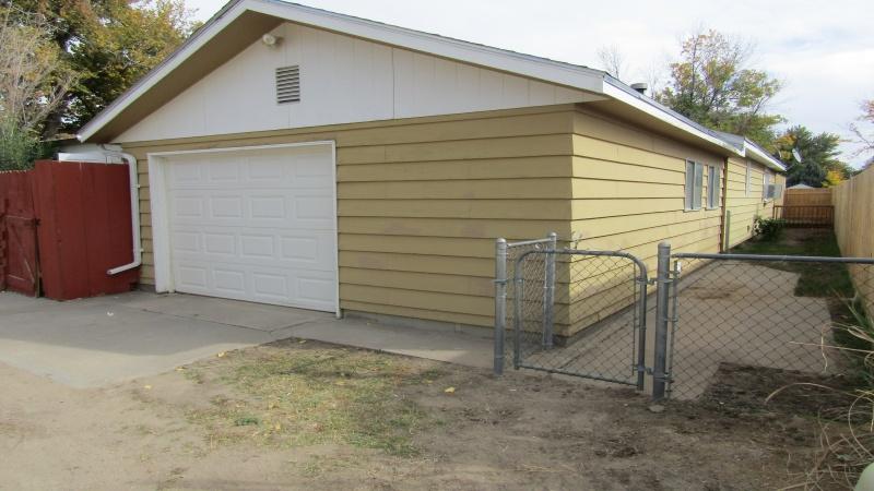 Second garage off alley