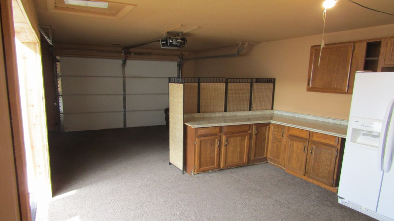 Alley garage interior can be easily converted back to garage