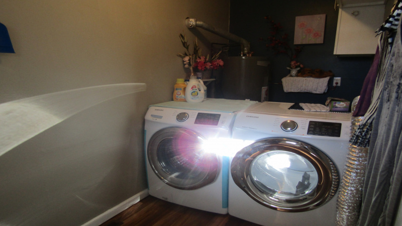 Laundry off kitchen.  Washer/dryer included