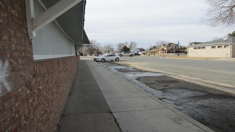 off street parking /looking west toward Main St