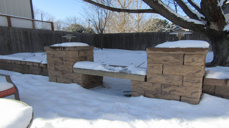 Landscaping seating areas
